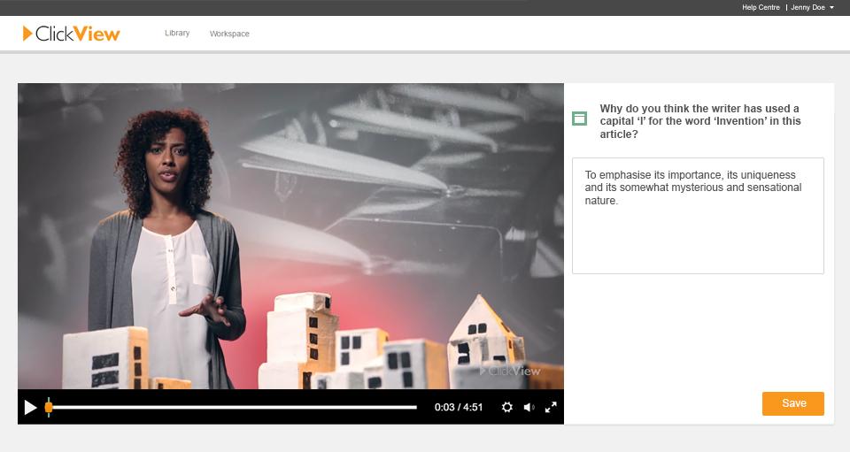 Interactive video long response