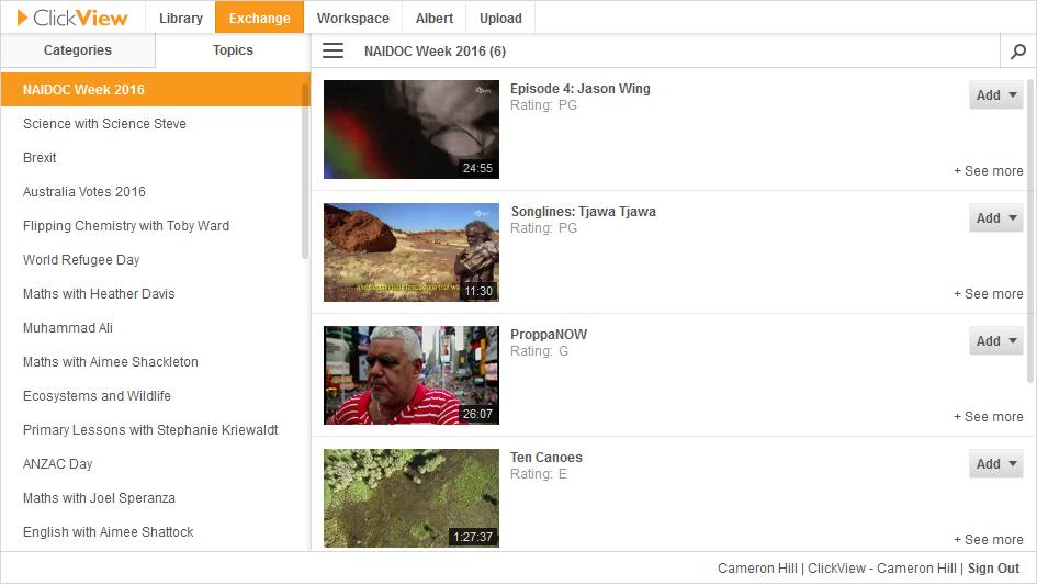 ClickView Exchange Plugin