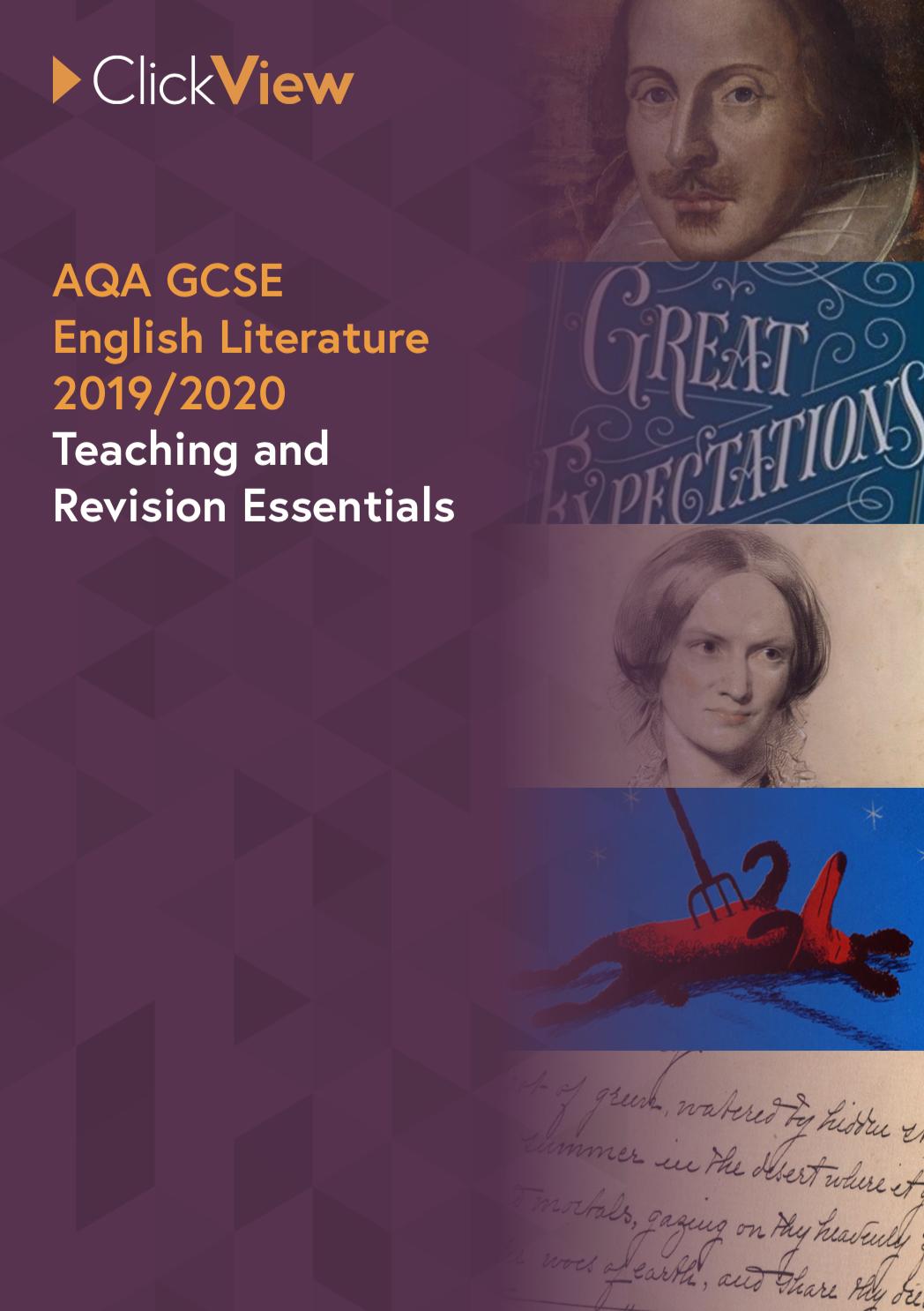 AQA GCSE English Literature - Teaching and Revision Essentials