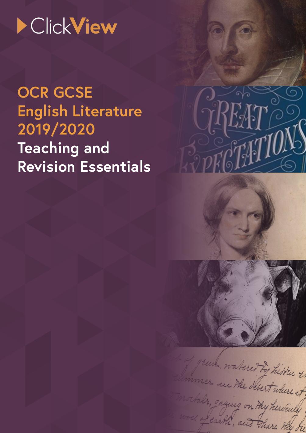 OCR GCSE English Literature - Teaching and Revision Essentials