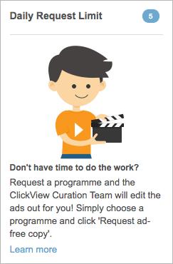 ClickView 24-7 request limit