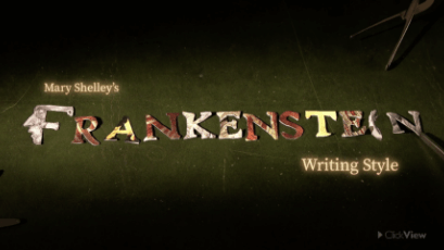 English - Frankenstein: Writing Style-video