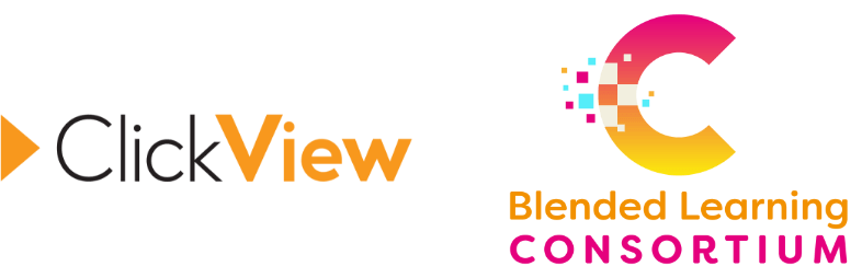 ClickView and Blended Learning Consortium partnership logo