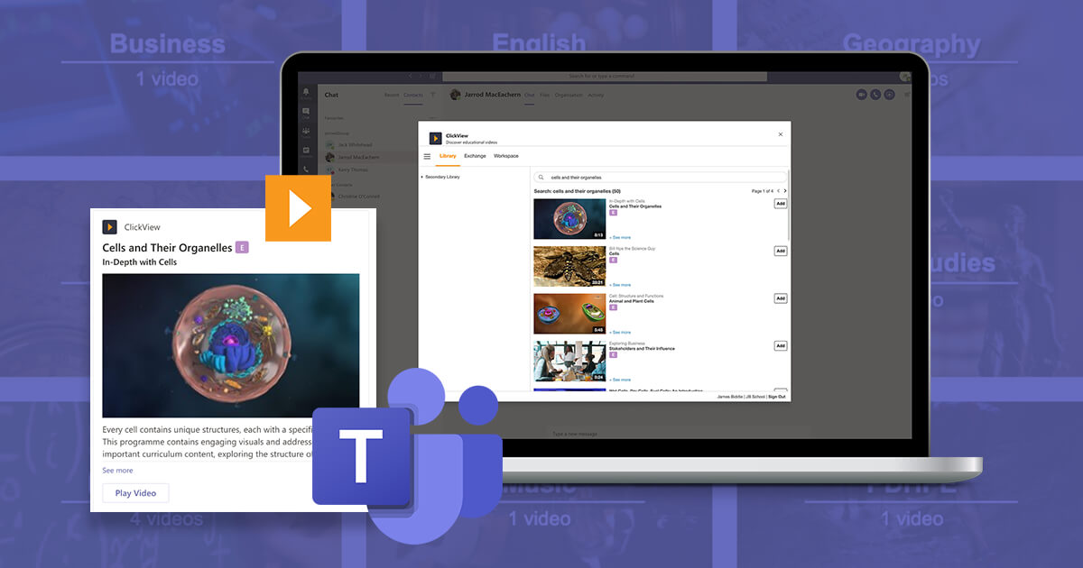 The ClickView app for Microsoft Teams is here